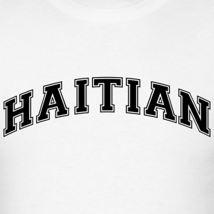 haitian  college style curved logo t-shirt - Men's T-Shirt