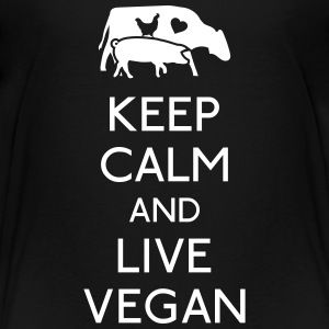 Keep Calm live vegan Baby & Toddler Shirts - Toddler Premium T-Shirt