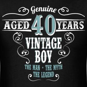 Vintage Boy Aged 40 Years... T-Shirts - Men's T-Shirt