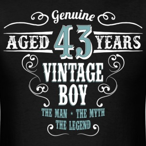 Vintage Boy Aged 43 Years... T-Shirts - Men's T-Shirt