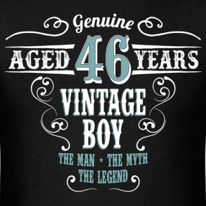 Vintage Boy Aged 46 Years.. T-Shirts - Men's T-Shirt