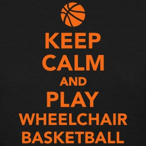 Keep calm and play wheelchair basketball Women's T-Shirts - Women's T-Shirt