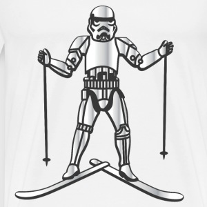 Skiing Stormtrooper - Men's Premium T-Shirt