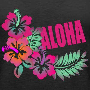 ALOHA FLOWER Tanks - Women's Premium Tank Top