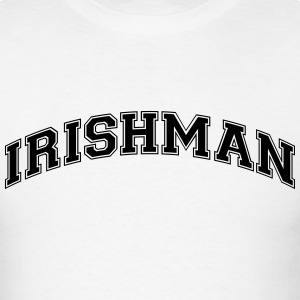 irishman college style curved logo t-shirt - Men's T-Shirt