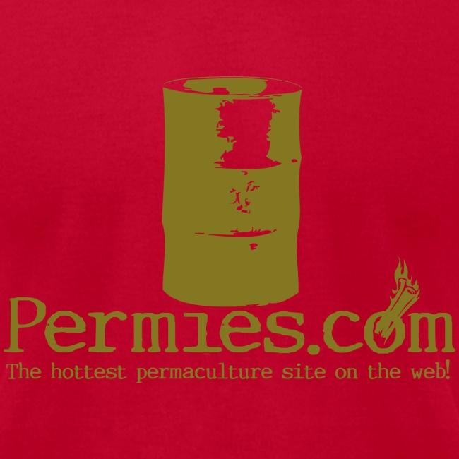 Permies Rocket Mass Heater Tee Brown