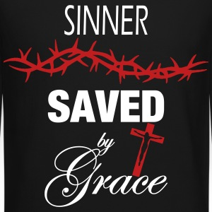 Sinner Saved by Grace Long Sleeve Shirts - Crewneck Sweatshirt