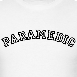 paramedic curved college style logo t-shirt - Men's T-Shirt