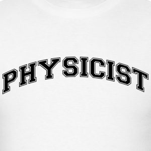 physicist college style curved logo t-shirt - Men's T-Shirt