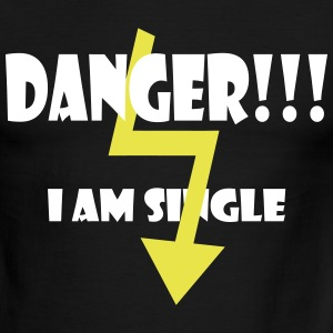 Danger - i am single by Claudia-Moda - Men's Ringer T-Shirt