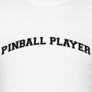 pinball player college style curved logo t-shirt - Men's T-Shirt