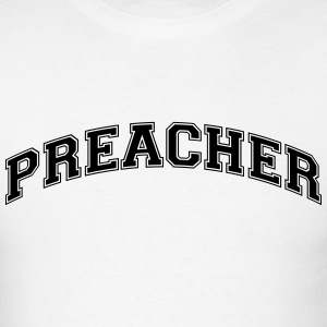 preacher college style curved logo t-shirt - Men's T-Shirt