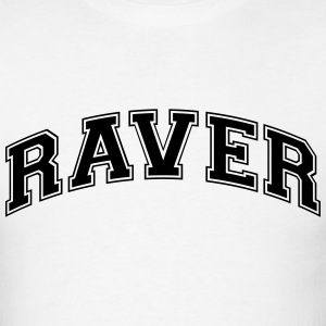 raver college style curved logo t-shirt - Men's T-Shirt