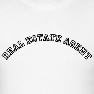 real estate agent curved college style l t-shirt - Men's T-Shirt