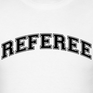 referee college style curved logo t-shirt - Men's T-Shirt