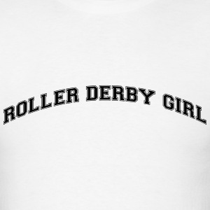 roller derby girl college style curved l t-shirt - Men's T-Shirt