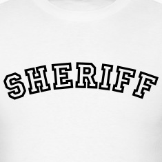 sheriff curved college style logo t-shirt