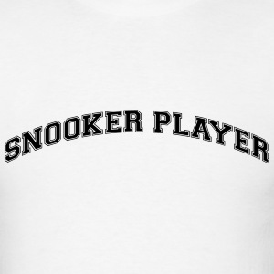 snooker player college style curved logo t-shirt - Men's T-Shirt