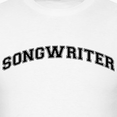 songwriter college style curved logo t-shirt