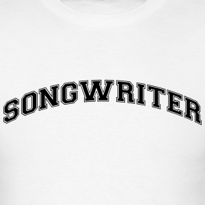 songwriter college style curved logo t-shirt - Men's T-Shirt