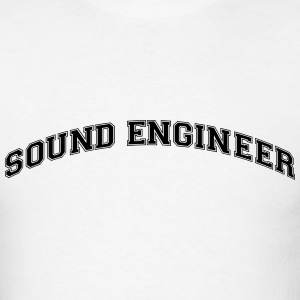 sound engineer college style curved logo t-shirt - Men's T-Shirt