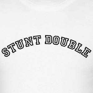 stunt double curved college style logo t-shirt - Men's T-Shirt