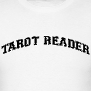 tarot reader college style curved logo t-shirt - Men's T-Shirt