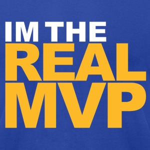 I'm The Real MVP - Blue - Men's T-Shirt by American Apparel