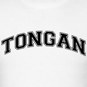 tongan  college style curved logo t-shirt - Men's T-Shirt