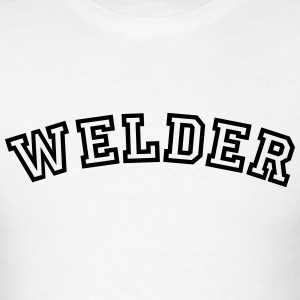 welder curved college style logo t-shirt - Men's T-Shirt