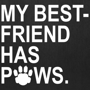 My Best Friend Has Paws Bags & backpacks - Tote Bag