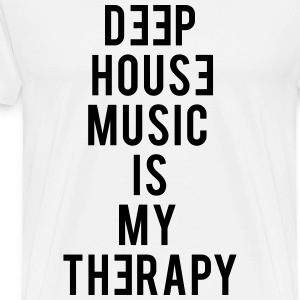 Deep House Music Is My Therapy - Men's Premium T-Shirt