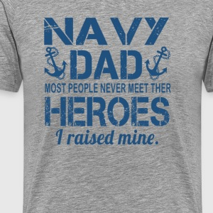 THE NAVY'S DAD - Men's Premium T-Shirt