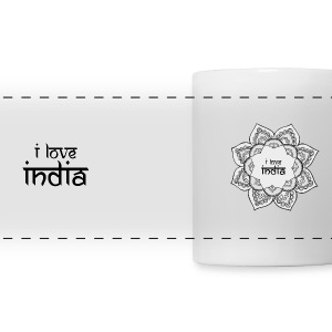 I Love India - Panoramic Mug