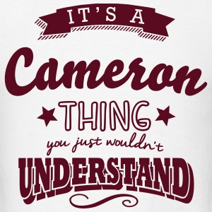 its a cameron name surname thing t-shirt - Men's T-Shirt