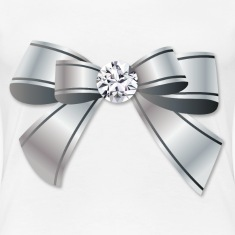 Silver Bow With The Diamond