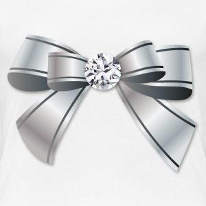 Silver Bow With The Diamond - Women's Premium T-Shirt