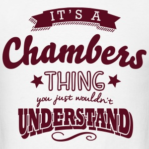 its a chambers name surname thing t-shirt - Men's T-Shirt