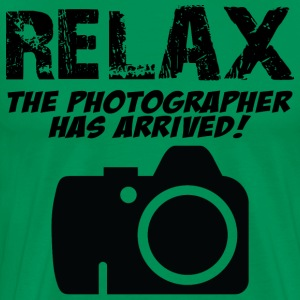 Relax The Photographer Has Arrived T-Shirts - Men's Premium T-Shirt