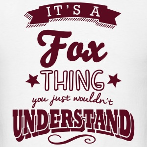 its a fox name surname thing t-shirt - Men's T-Shirt
