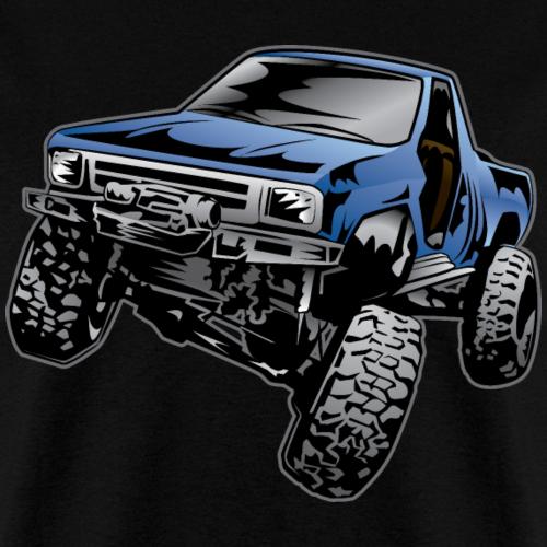 Blue Rock Crawling Truck