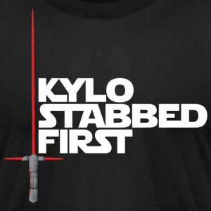 Kylo Stabbed First by Rocktane Clothing T-Shirts - Men's T-Shirt by American Apparel