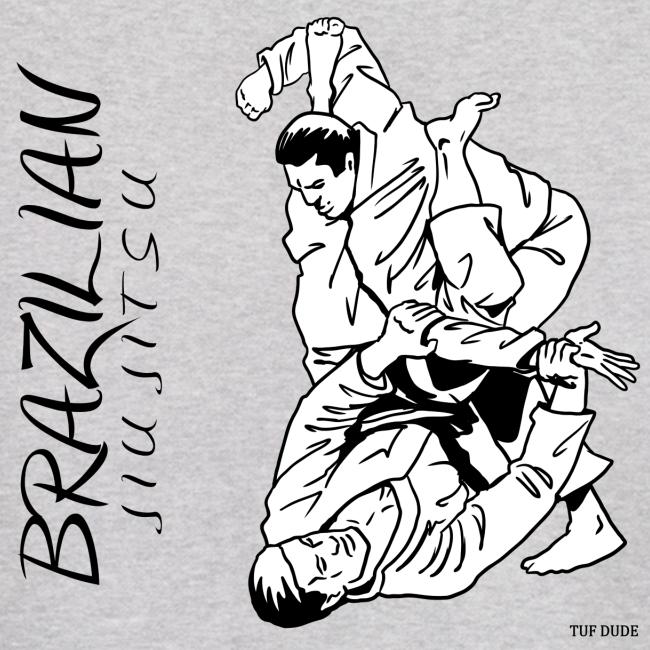 Brazilian Jiu Jitsu Hoodie Men's - bw - Back Print