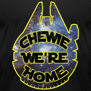 chewie, we're home-falcon T-Shirts - Men's T-Shirt by American Apparel