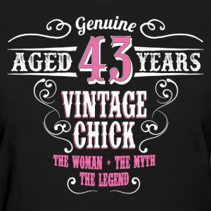 Vintage Chick  Aged 43 Years... Women's T-Shirts - Women's T-Shirt