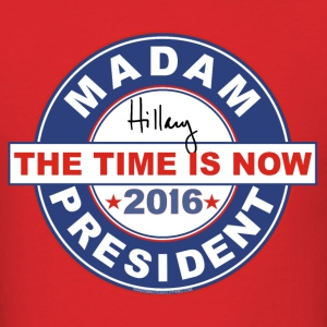 Hillary t-shirt Madam President 2016 circle men's - Men's T-Shirt