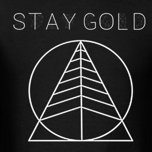 Stay Gold Tree Black - Men's T-Shirt