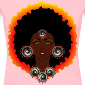 AFROCENTRIC WOMAN OF MUSIC GRAPHIC TEE - Women's Premium T-Shirt