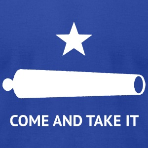 Texas Come and Take It Battle Flag - Men's T-Shirt by American Apparel