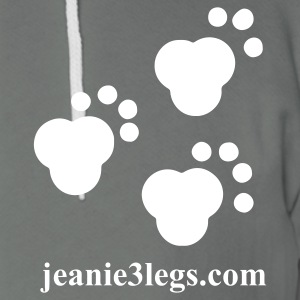 Jeanie3legs Paw Prints Zip Hoodies & Jackets - Unisex Fleece Zip Hoodie by American Apparel
